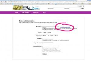 cams.com signup problems