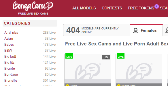 404 with Bongacams