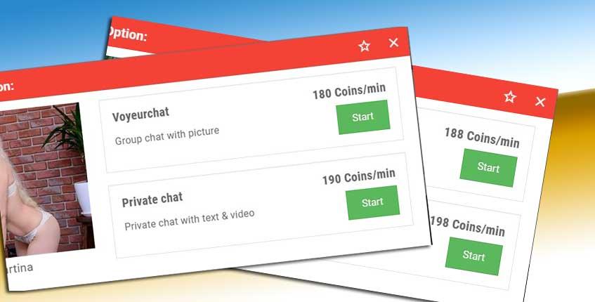 Amarotic chat cost per minute