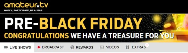 list of promotions and deals for cam sites Black Friday